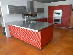 kitchen cabinet laminate sheets stainless steel counter tops red and grey drivers u0027 break room