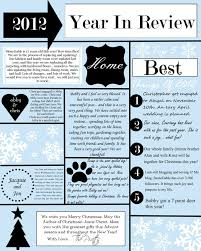 year in review christmas card a year in review christmas letter and template stonegable