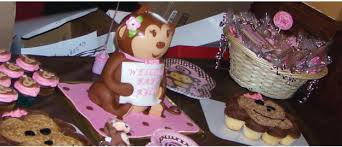girl themes for baby shower girl baby shower ideas monkey girl theme big dot of happiness
