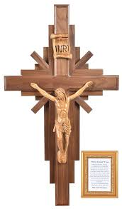 wooden wall crucifix large 30 story of jesus wooden wall crucifix holy land