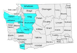 map of counties of washington state counties and cities therein