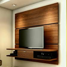 Wooden Design On Wall For Lcd