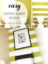 decorating a small bathroom easy wall stripes
