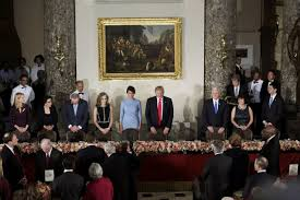 inaugural luncheon head table trump inauguration inauguration parade to feature military police
