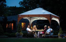 Patio Umbrellas With Led Lights by Amazon Com Coleman All Night 10 X 10 Instant Lighted Shelter