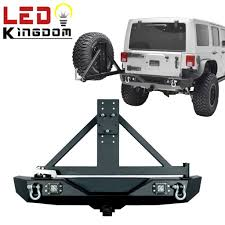 jeep rear bumper 07 17 jeep wrangler jk rock crawler rear bumper w tire carrier 2x