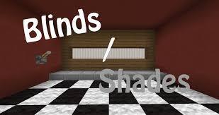 Sports Blinds Window Blinds In Vanilla Minecraft Youtube