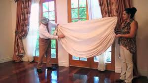 How To Hang A Valance Scarf by Perfect Curtain Swags Diy How To Make Swags Galaxy Design