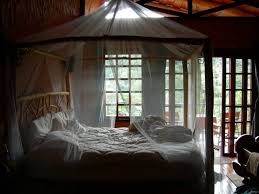 Mosquito Netting Curtains Bedroom Unique Rustic Log King Size Canopy Bed Frame Design With