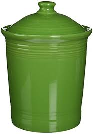 amazon com fiesta 3 quart large canister shamrock kitchen