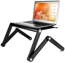 Portable Standing Laptop Desk by Vented Height Adjustable Laptop Tray Up To 17 5 U201d Screens
