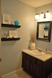 bathroom thick wooden shelves design for small bathroom