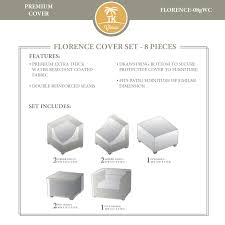 Protective Covers For Patio Furniture - tk classics florence 08g protective cover set