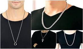 necklace diamond ebay images Silver chain for men chains necklace mens ebay littlelookbook jpg