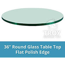 amazon com fab glass and mirror square clear glass table top 24