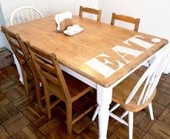 Before  After Jamie Brads Kitchen Tables  DesignSponge - Sanding kitchen table