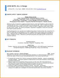 graphic artist sample resume letter format for graphic artist hire