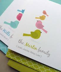 personalized bird family note card set family stationery thank