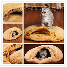 pet products warm soft cat house pet sleeping bag lovely hamburger