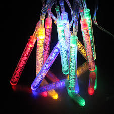 battery operated icicle christmas lights 10leds multicolor icicle battery powered christmas fairy lights