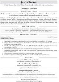Physical Therapy Resumes Sample Resume For Respiratory Therapist Sample Occupational