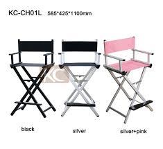 cheap makeup artist silver black lightweight portable aluminum metal makeup chair