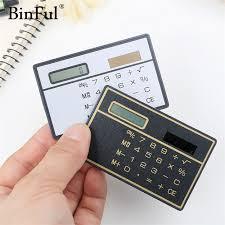 travel calculator images Binful slim credit card cheap solar power pocket calculator jpg