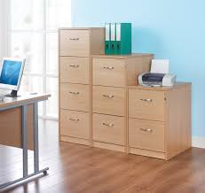 Wood File Cabinets 4 Drawer by Dams 4 Drawer Filing Cabinet Beech Www Woodsoffice Co Uk