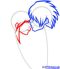 how to draw an emo couple emo couple step by step anime people