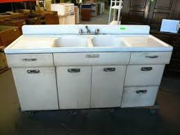 Antique Kitchen Sinks For Sale by Retro Metal Kitchen Cabinets Value Youngstownnyc2 Vintage Metal