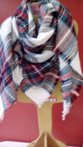teal red and white plaid blanket scarf my favourite scarf