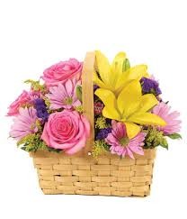 Yellow Lilies Springtime Delight Basket At From You Flowers