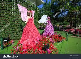 flowers garden city chiangraithailand january20 flower lady colorful flower stock
