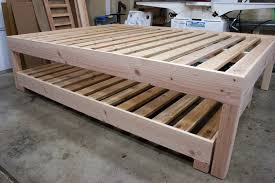Simple Diy Bed Frame Queen Bed Frame With Trundle Dimensions Of Queen Bed Elegant Queen