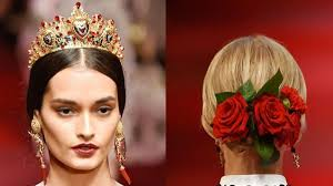 gorgeous headbands and hair accessories from dolce and gabbana