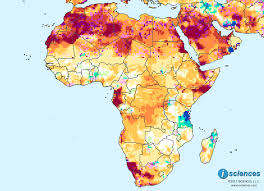 Namibia Map Africa Water Deficits Forecast To Emerge In Botswana Ne Namibia