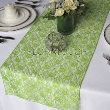 lime green table runner light green lace wedding table runner
