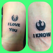couple tattoo inspired by star wars tattoos pinterest