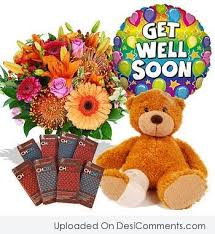 get better soon flowers get well soon flower holder teddy graphic on