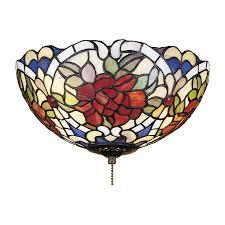 Lowes Ceiling Fan Light Kits Shop Meyda Renaissance 3 Light Mahogany Bronze