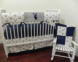 Navy Blue And Gray Bedding Baby Boy Bedding Etsy