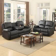 Loveseat Black Leather Leather Loveseat Ebay