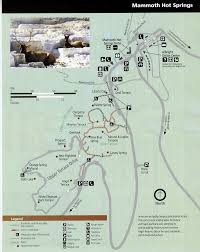 Yellowstone Eruption Map Mammoth Spring Yellowstone Pinterest Springs