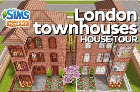 the sims freeplay london townhouses original design youtube