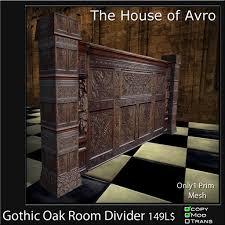 Oak Room Divider Second Life Marketplace Gothic Oak Room Divider Mesh Only 1