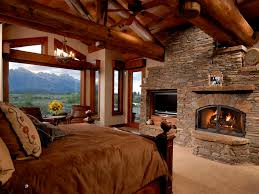 Log Cabin Bedroom Furniture by Log Cabin Master Bedroom Fireplace So Relaxing Dream Home