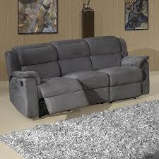 canap relax 3 places tissu canape relax tissu gris canapé idées de décoration de maison