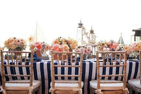 navy blue table linens nautical navy blue white stripes table cloth weddng table