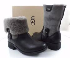 ugg womens demi boot ugg s us 8 5 knee high black leather water resistant