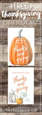 thanksgiving printables free the house